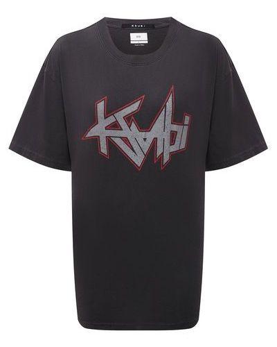 Хлопковая футболка - серая Ksubi