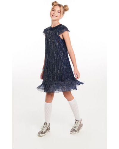 Платье с рукавами с пайетками с люрексом Infunt