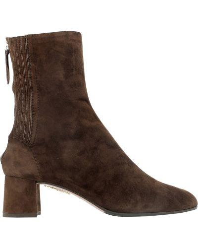 Brązowe ankle boots Aquazzura