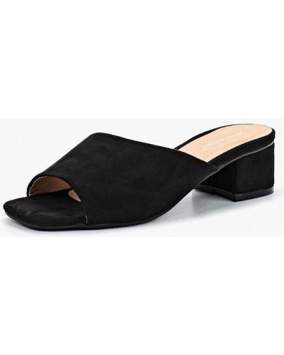 Черные велюровые сабо Ideal Shoes®
