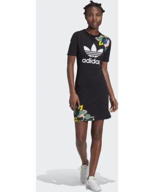 Облегающее платье футболка Adidas