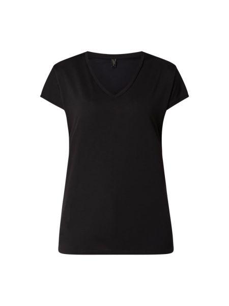 Czarny t-shirt z dekoltem w serek Soyaconcept