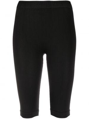 Облегающие черные шорты эластичные Unravel Project