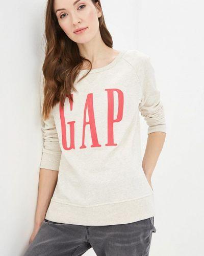 Бежевый свитшот Gap