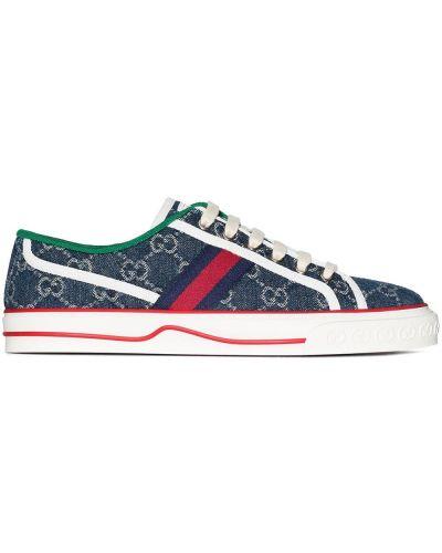 Niebieskie sneakersy Gucci