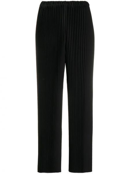 Prosto spodni czarny przycięte spodnie Enfold