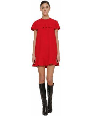 Платье мини на молнии из крепа Red Valentino