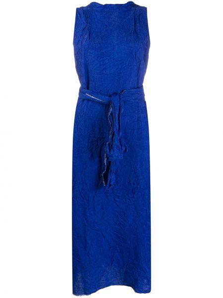 Синее платье без рукавов свободного кроя с вырезом Daniela Gregis