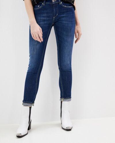 Синие джинсы-скинни узкого кроя Dondup