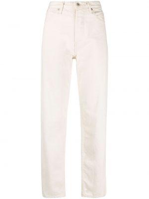 Klasyczne beżowe jeansy z wysokim stanem Jil Sander