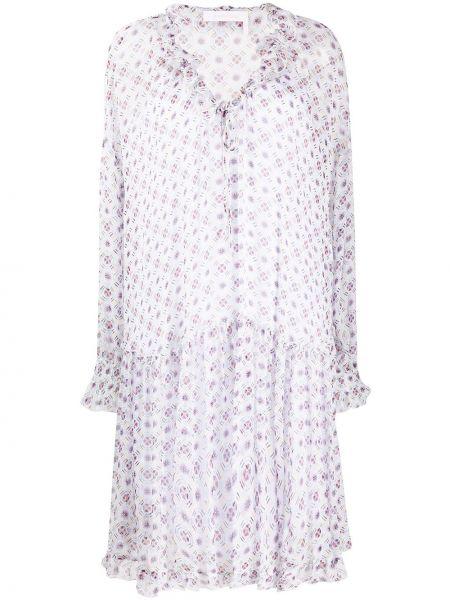 Платье розовое со вставками See By Chloe