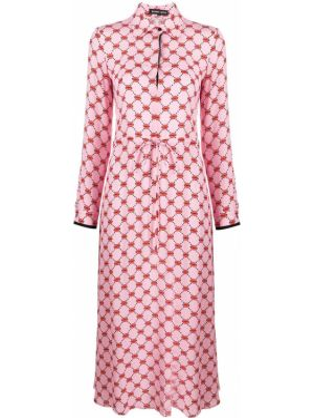 Платье макси розовое на пуговицах Markus Lupfer