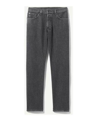 Черные джинсовые широкие джинсы Weekday