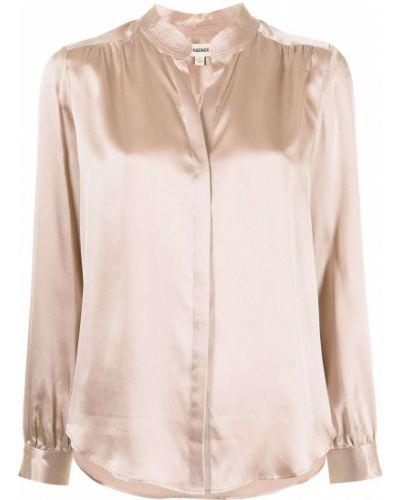 Шелковая с рукавами классическая рубашка с воротником L'agence
