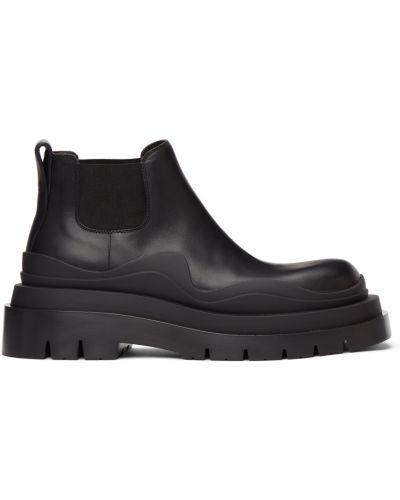Ботинки челси на платформе - черные Bottega Veneta