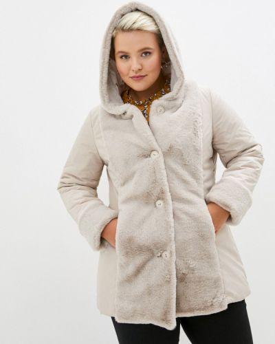 Бежевая теплая куртка Sophia