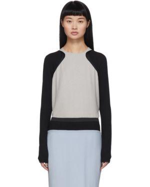 Блузка с длинным рукавом шелковая с воротником-стойкой Haider Ackermann