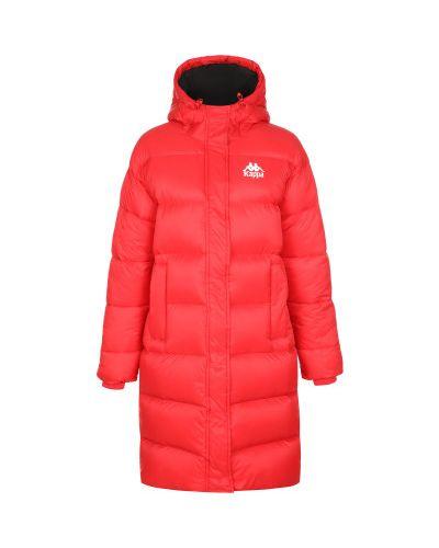Красная свободная нейлоновая зимняя куртка на молнии Kappa