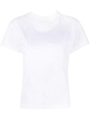 Хлопковая футболка - белая See By Chloé