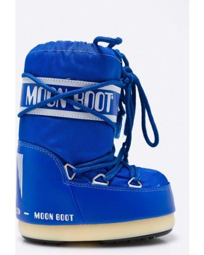 Зимние сапоги синие Moon Boot
