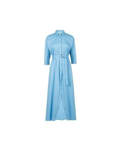 Повседневное платье голубой хлопковое Patrizia Pepe