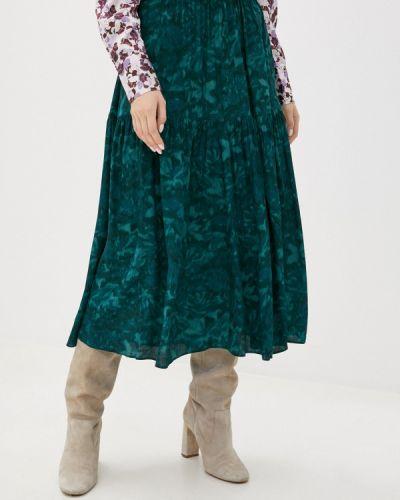 Зеленая юбка свободного кроя Mbym