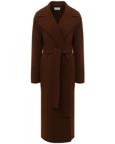 Коричневое шерстяное пальто с подкладкой The Row