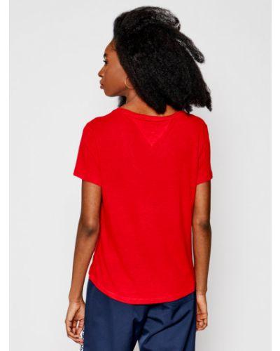 Czerwony koszula jeansowa Tommy Jeans