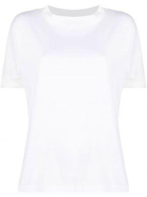 Трикотажная белая футболка с вырезом Fabiana Filippi