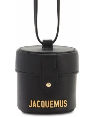 Кожаная сумка с логотипом золотая Jacquemus