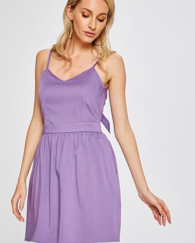 Платье мини однотонное на бретелях Answear
