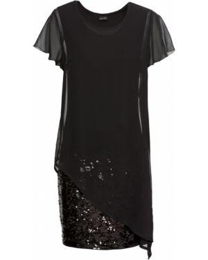 Коктейльное платье с пайетками черное Bonprix