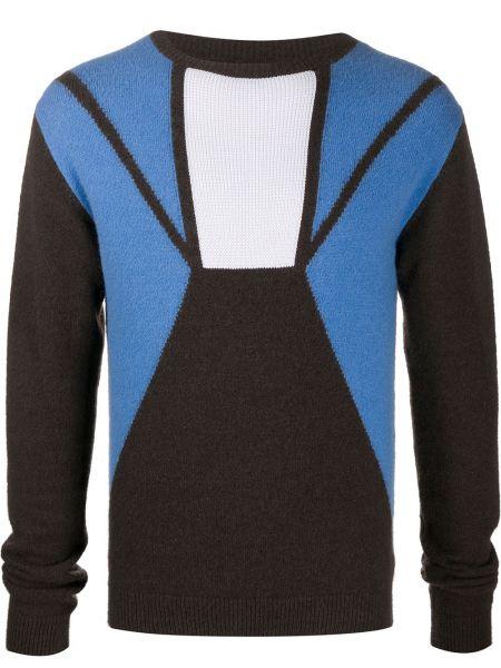 Prążkowany pulower wełniany z długimi rękawami Rick Owens