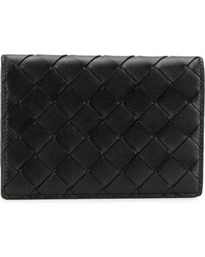 Кожаный кошелек черный спортивный Bottega Veneta