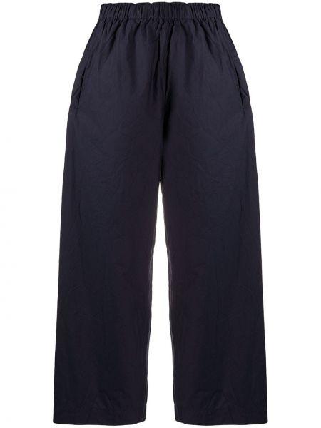 Хлопковые синие свободные брюки с поясом свободного кроя Daniela Gregis