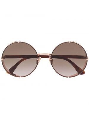 Прямые муслиновые солнцезащитные очки круглые Jimmy Choo Eyewear
