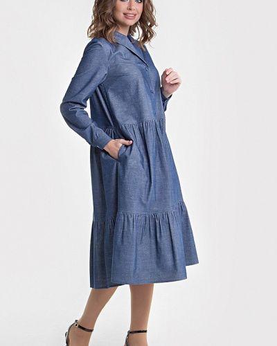 Платье вельветовое - голубое Filigrana