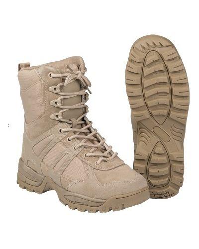 Кожаные ботинки - хаки Mil-tec