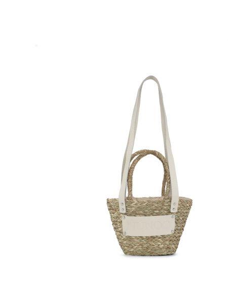 Beżowa torebka na plażę Nunoo