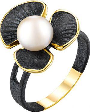 Кольцо с жемчугом позолоченный De Fleur