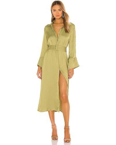 Свободное деловое зеленое платье-рубашка Elliatt