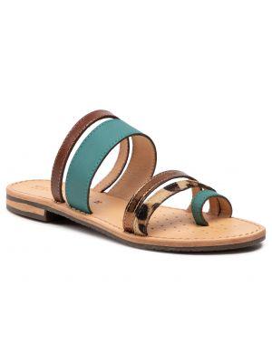 Brązowe sandały skorzane na co dzień Geox