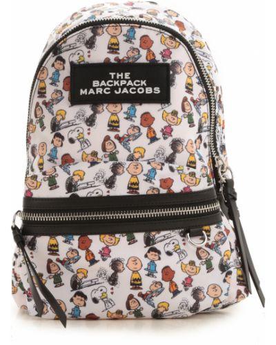 Nylon biały plecak z kieszeniami Marc Jacobs