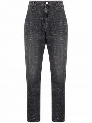 С завышенной талией черные джинсы бойфренды с карманами Essentiel Antwerp