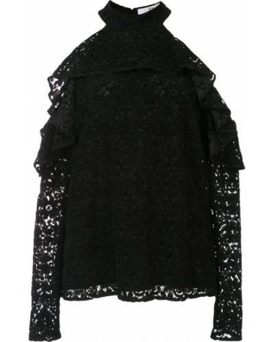 Блузка с открытыми плечами с рюшами с длинным рукавом Zac Zac Posen