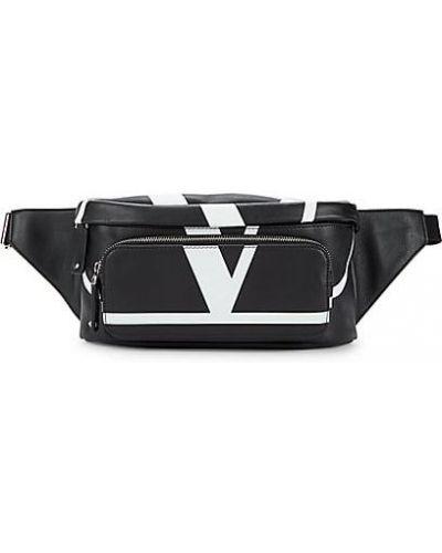 Черный кожаный ранец с карманами Valentino Garavani