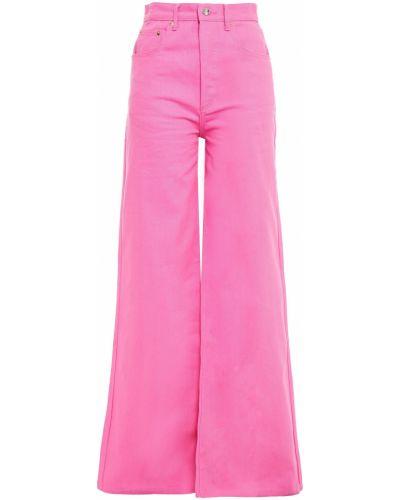 Джинсовые широкие джинсы - синие Solace London