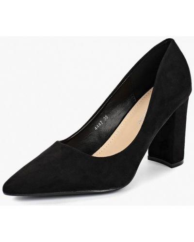 Туфли на каблуке осенние велюровые Super Mode