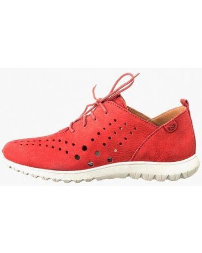 Кроссовки из нубука - красные Josef Seibel