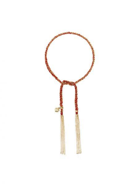 Шелковый золотой браслет золотой Carolina Bucci